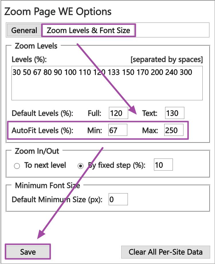 Zoom Page WE 自動適應網頁寬度