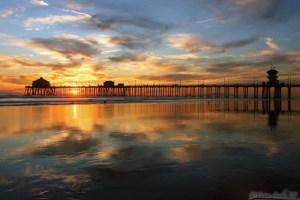 HB pier sunset