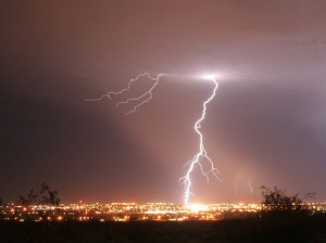 ridgecrest CA lightning