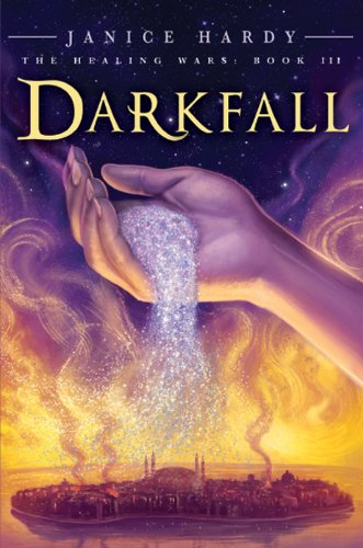 Darkfall by Janice Hardy | books, reading, book covers, cover love, hands
