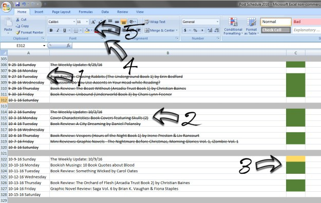 Blogging Organization: Scheduling and Keeping Track of Blog Posts with a Spreadsheet | Blogging, Blogging Tips, Book Blogging, Books