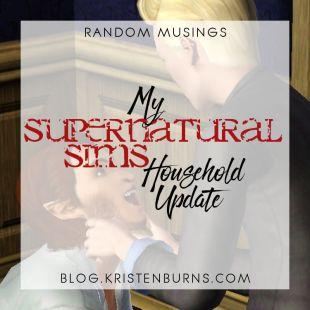 Random Musings: My Supernatural Sims House Update