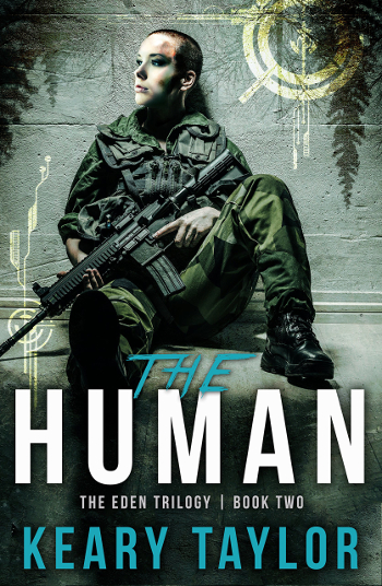 Book Review: The Human (The Eden Trilogy Book 2) by Keary Taylor | books, reading, book covers, book reviews, sci-fi, dystopian, post-apocalyptic, YA, cyborgs