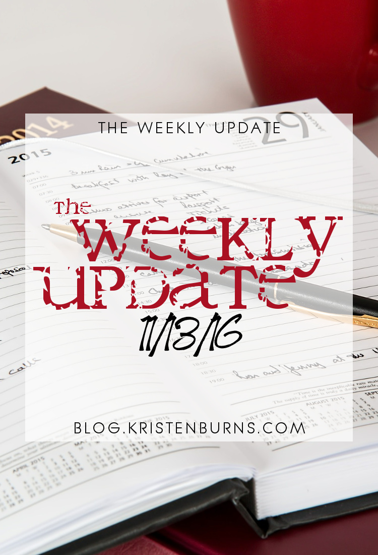 The Weekly Update: 11/13/16
