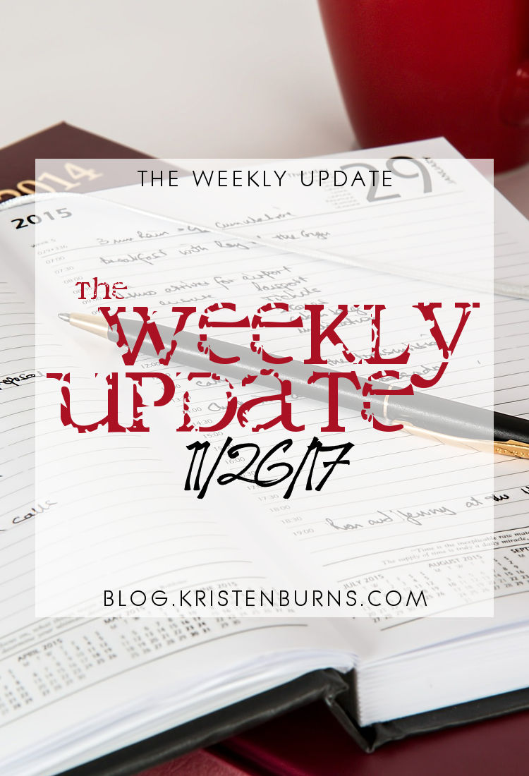 The Weekly Update: 11-26-17