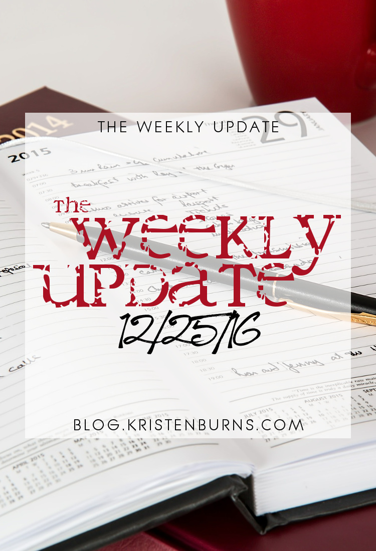 The Weekly Update: 12/25/16 | reading, books
