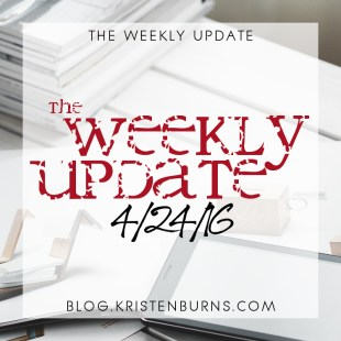 The Weekly Update: 4/24/16