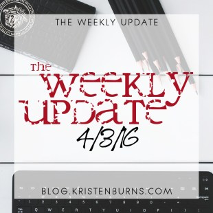 The Weekly Update: 4/3/16