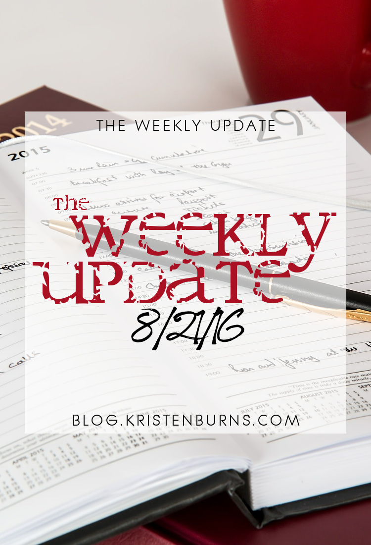The Weekly Update: 8-21-16 | reading, books