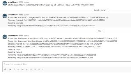 Notification de Watchtower dans Slack