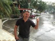 Plötzlicher karibischer Platzregen
