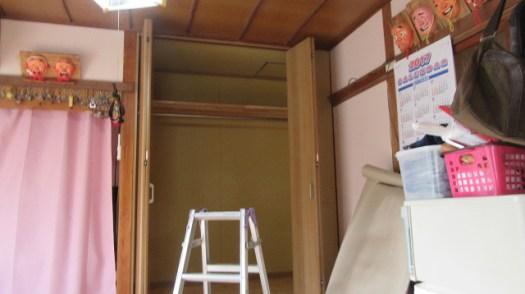 壁ボード、天棚、扉収まる