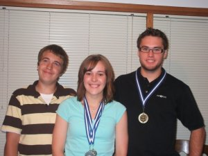 Kent, Lauren and I after a school awards night.
