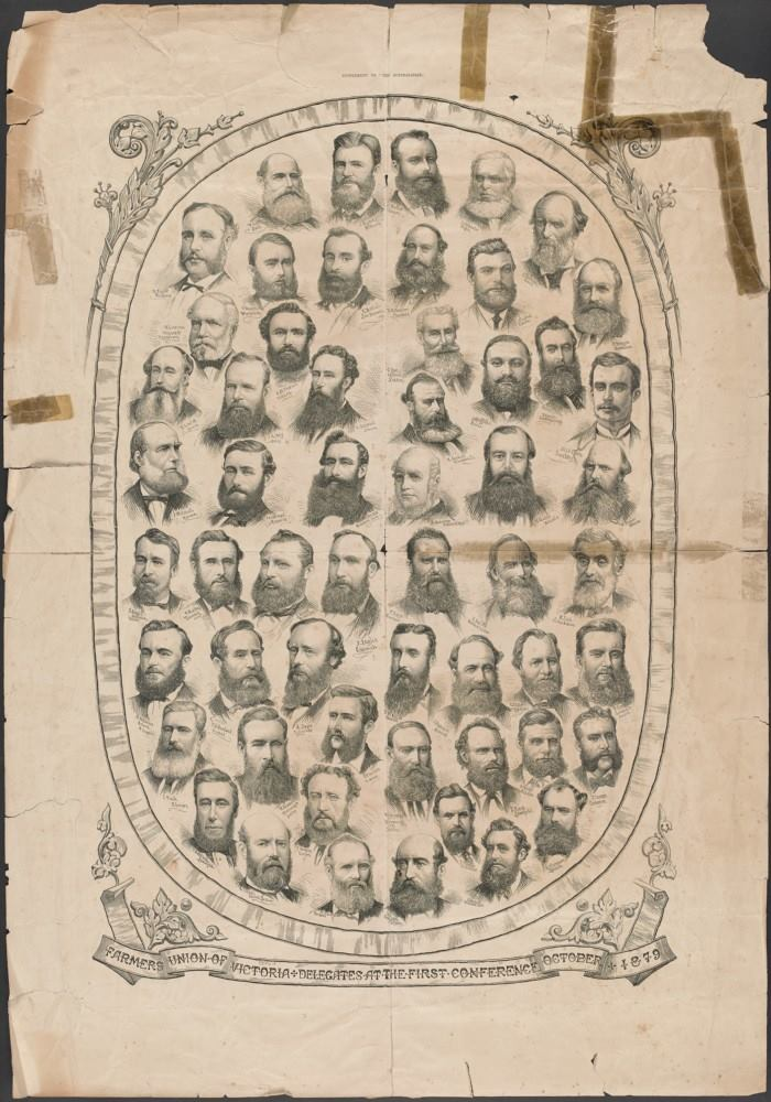Farmers Union of Victoria, Delegates At The First Conference, October 1879.