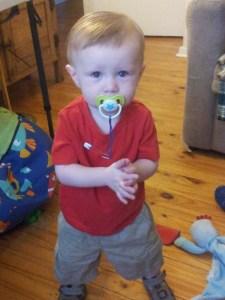 Josiah on Boxing Day 2013