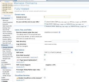 screenshot of DreamHost create a sub-domain