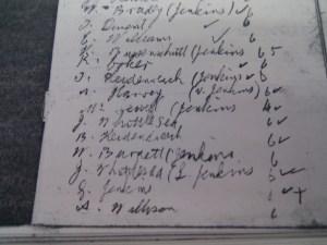 Salisbury Rifle Club scoring notebook