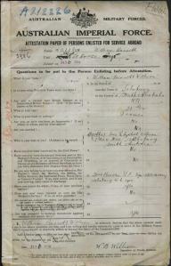 William Willison Service Record