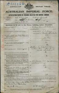 William Willison Service Record