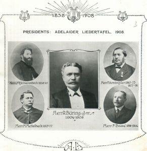 Presidents of the Adelaider Liedertafel