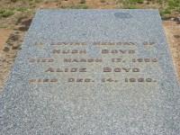 Hugh Boyd Alice Boyd Elmore Cemetery