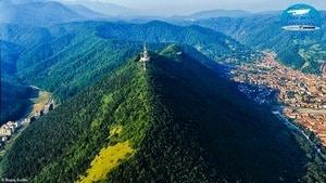 Aerial view of Brasov Romania