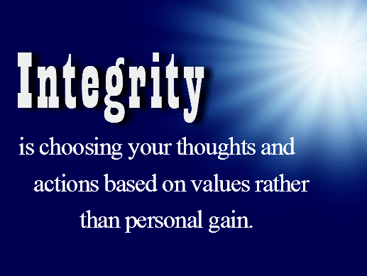 Meaning of Integrity
