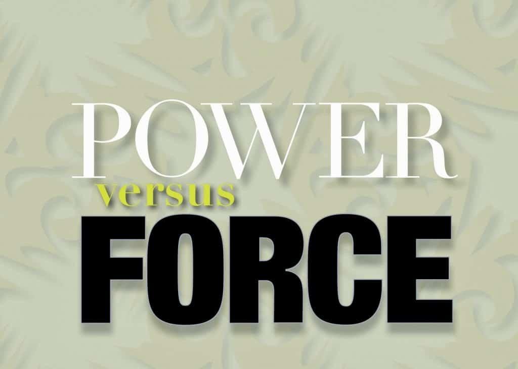 * Kyusho Power Vs Force