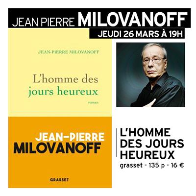 Rencontre avec Jean-Pierre Milovanoff