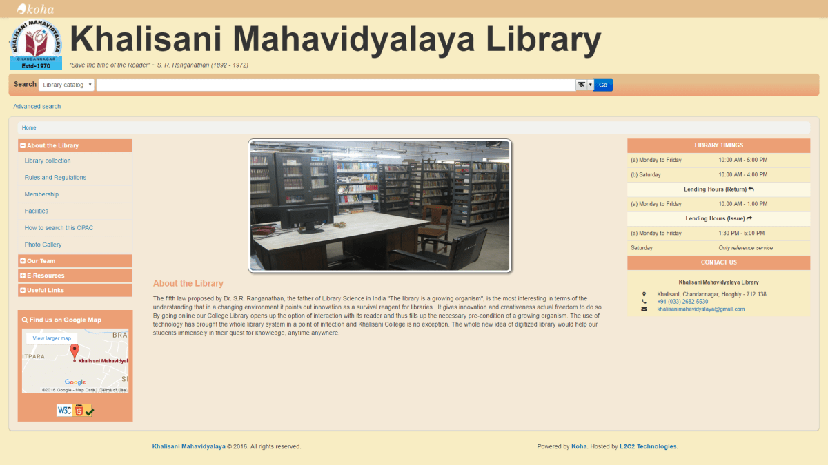 Khalisani Mahavidyalaya Library partners with L2C2 Technologies
