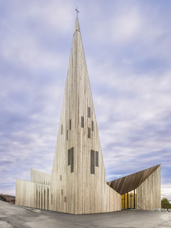 Church Architecture Knarvik Church in Norway  LA76 Blog