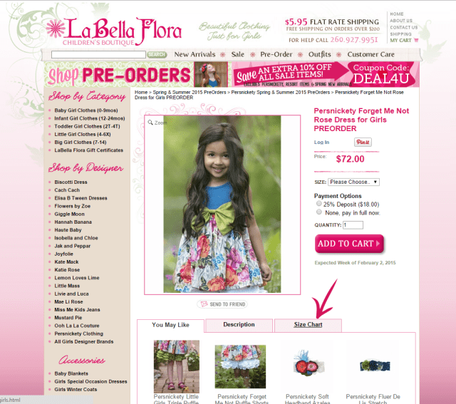 Girls Boutique Clothing Sizes How To Get It Right Labella Flora Blog