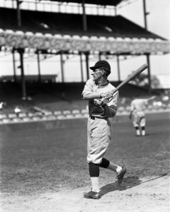 Rollie H. Zeider of the Chicago Cubs swinging a bat in 1917. (Photo by Sporting News and Rogers Photo Archive via Getty Images)