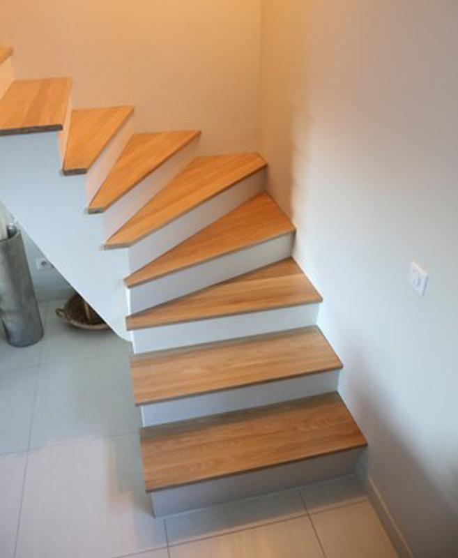 Escalier quart tournant en chne  Le blog du bois