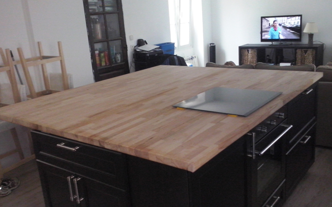 table de cuisine bar haute