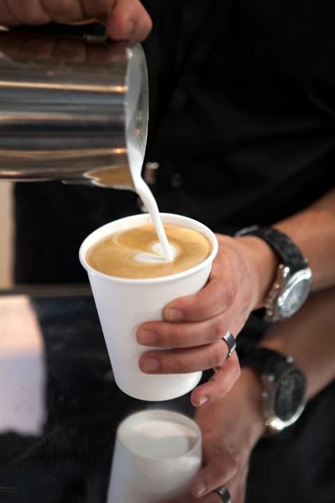 Latte art by Hamza
