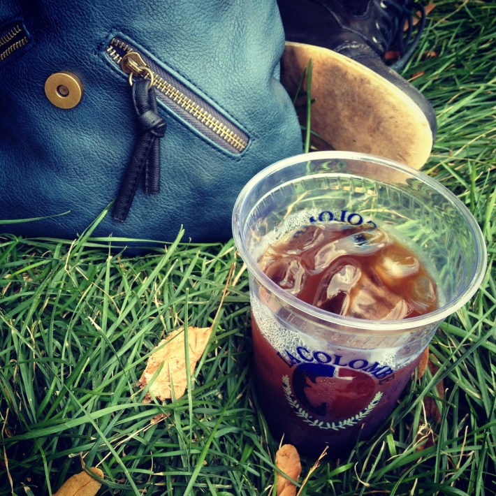 Pure Black cold-brew on the grass