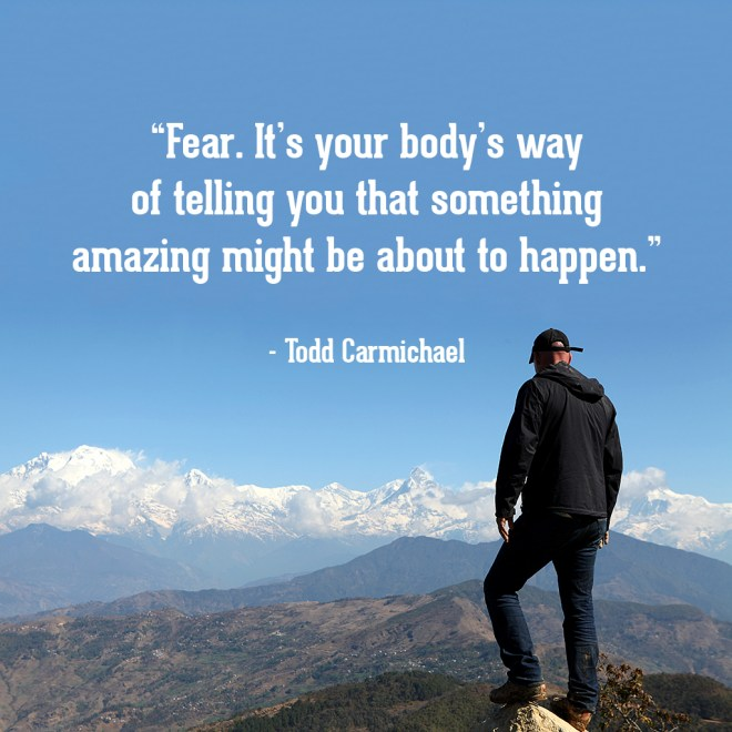 201 Nepal: Todd looks out to the mountains of Nepal