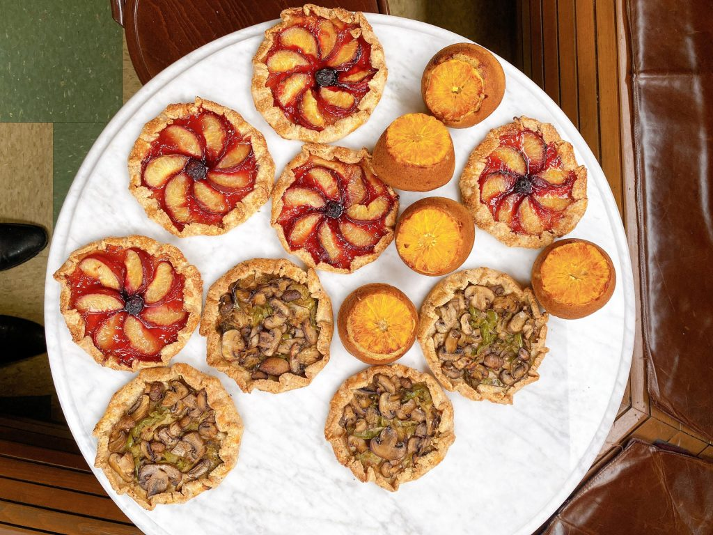 Plum Galette, Mushroom Galette, & Olive Oil Cake
