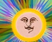 El sol con un curioso bigote… ¿falso?