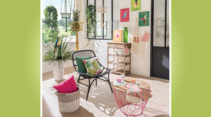 Style  La tendance tropicale style et couleurs