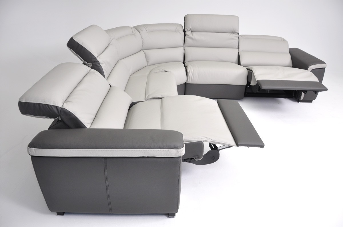 Contemporary Recliner Sofa Sets Fabulous White Leather