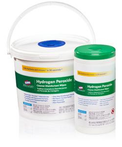 Serviettes nettoyantes désinfectantes au peroxyde d'hydrogène
