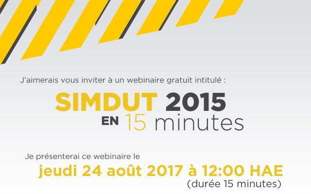 invitation SIMDUT 2015 en 15 minutes