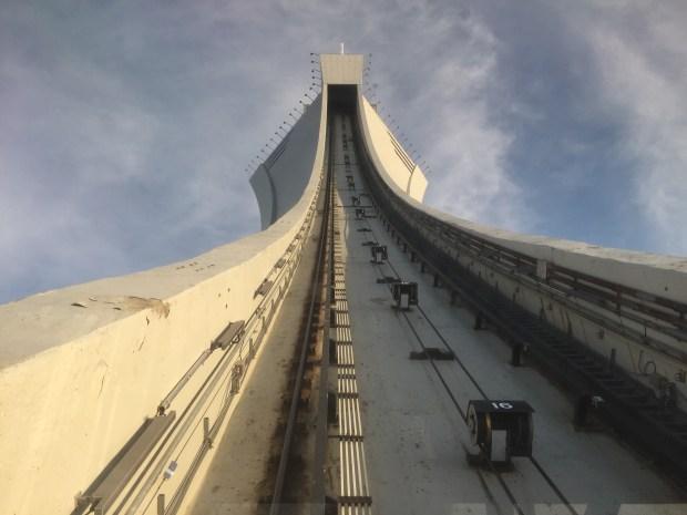 vue à partir du funiculaire stade olympique