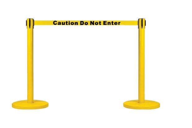 Barrières sur pied jaunes