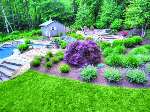 Hoffman Landscapes turns Miller residence into country retreat.