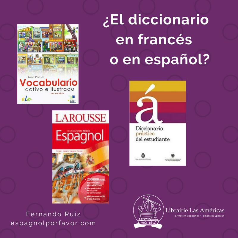¿El diccionario en español o en francés?