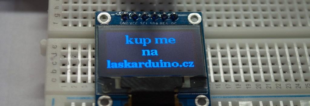 Monochromní OLED display s řadičem SSD1306