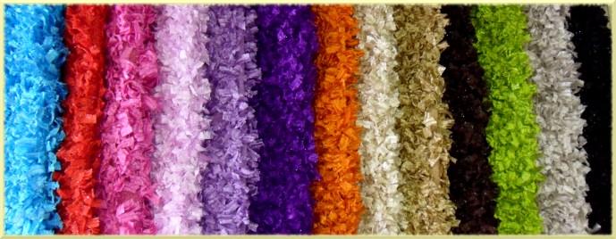 Alfombra plumas: colores disponibles